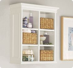 decorative wall cabinets bathroom | ... shelf reminds me of the Newport Wall Cabinet from Pottery Barn
