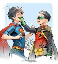 "I love how batman is smiling like ""atta boy"""