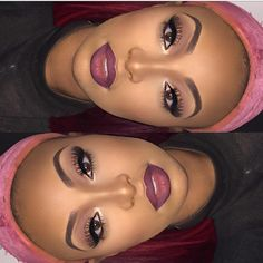 2019 Fascinating Makeup Ideas for Dark Skin - Makeup Looks Classic Pretty Makeup, Love Makeup, Makeup Inspo, Makeup Inspiration, Makeup Ideas, Makeup Case, Maquillage On Fleek, Maquillage Black, Makeup On Fleek