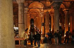 View from entrance stairs Basilica cistern #istanbul
