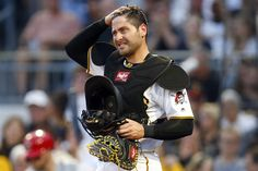 Francisco Cervelli Photos Photos - Francisco Cervelli #29 of the Pittsburgh Pirates looks on in the second inning against the Cincinnati Reds at PNC Park on April 10, 2017 in Pittsburgh, Pennsylvania. - Cincinnati Reds v Pittsburgh Pirates