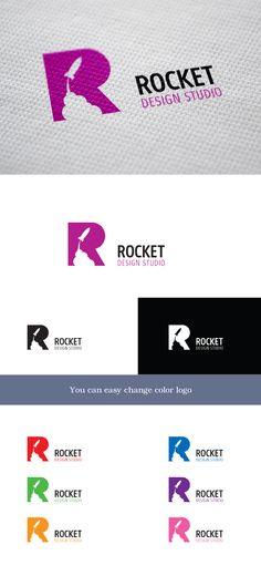 Rocket Studio via Creattica Main Logo with Different colors representing different branches?