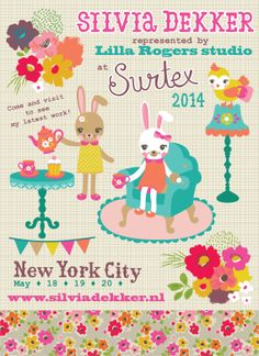Silvia Dekker's new work at Surtex New York City May 2014.