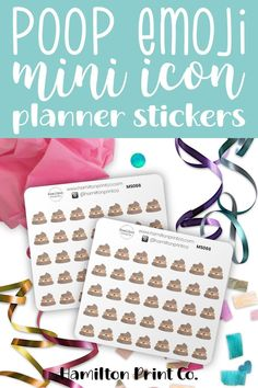 Cute poop emoji stickers to keep track of toilet training, or to mark out any time you had a crappy day, or to remind you to scoop the poop.These stickers will suit any kind of planner, diary, calendar or bullet journal. Planner Board, Life Planner, Emoji Stickers, Best Planners, Toilet Training, Planner Supplies, Small Shops, Bullet Journals, Erin Condren