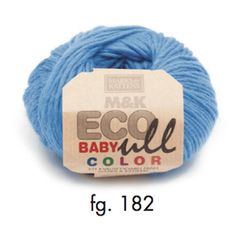 M&K Eco-Baby Ull Color - certified organic wool and Merino, 4ply, 25g, blue - I Wool Knit
