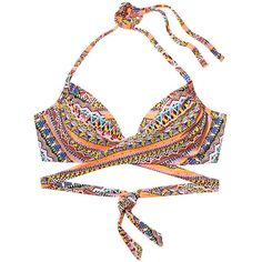 86967c1c64 Victoria s Secret Wrap Halter ( 49) ❤ liked on Polyvore featuring swimwear