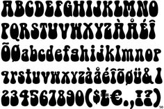 Fontscape Home > Period > Sixties Hand Lettering Fonts, Lettering Styles, Typography Letters, Graphic Design Typography, 1960s Font, Retro Font, Writing Fonts, Sign Writing, Hippie Font