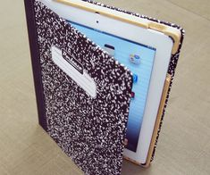 Kick it old school by protecting your tablet using the composition book iPad…