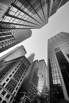 black and white photography Sky scrapers Black And White Picture Wall, Black And White Wallpaper, Black And White Pictures, New York Black And White, Gray Aesthetic, Black And White Aesthetic, Nature Aesthetic, Aesthetic Collage, Aesthetic Vintage