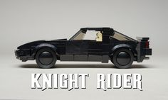 "https://flic.kr/p/nhbSBM | KITT - Side | The famous KITT (Knight Industries Two Thousand) from the hit TV show ""Knight Rider.""  This robotic car with personality can be seen at the Area51 Cruise Night at Brickworld next month.  The window solution is from Orion Pax's most excellent MOC.  My version is only 6wide because it needs to fit in next to other minifig scale cars.  Gaps in the bricks are covered with structural stickers.  And the animated LED ""Eye"" is a special fa..."