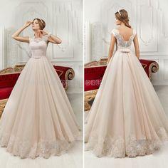 Find a Vintage Champagne Tulle Lace Wedding Dresses A Line Women Wedding Dress Cheap Bridal Dresses Pretty Wedding Gowns Online Online Shop For U !