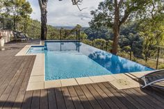 Concrete infinity edge pool