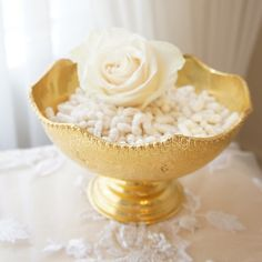 à la carte sofreh aghd design. FOR SALE: Sofreh Aghd Noghl Bowl | Vintage Scalloped Gold Bowl by prettypleasedesign, $55.00