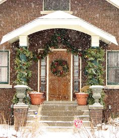 Front Porch on a snowy Sunday afternoon in Normal, Illinois