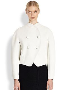 Proenza+Schouler Bonded+Boucle+Jacket This is THE round shoulder jacket to buy this season. The snaps, the double breasted that can go single breasted. Really just perfect!