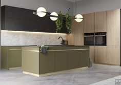 Kitchen concept on Behance Art Deco Kitchen, Kitchen Decor, Zen Kitchen, Kitchen Interior, Interior Design Living Room, Small Kitchen Layouts, Japanese Interior Design, Mid Century Modern Kitchen, Open Plan Kitchen