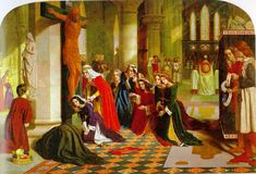 """The Renunciation of St. Elizabeth of Hungary"" (1850) by the Pre-Raphaeliteartist James Collinson, a convert to Catholicism"