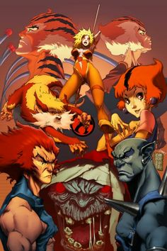 Deviant Artist has created this image in tribute to his favourite children's cartoon, the Thundercats. I think the art style is very reminiscent of Afro Samurai. 1980 Cartoons, Old School Cartoons, Gi Joe, Marvel, Comic Books Art, Comic Art, Scooby Doo, Wow Photo, Nerd
