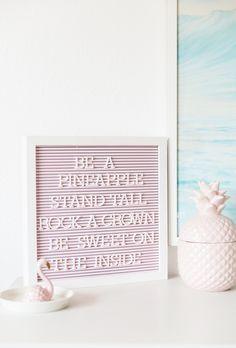 DIY Pink Letter Board | Best Friends For Frosting
