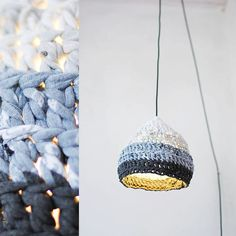Pendant lamp in gray gradient Eco design Hand by maddadesign, $50.00