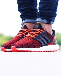 2fd2f71441c4b Another great on foot shot of the adidas Ultra boost Solar Red