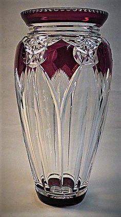 Val Saint-Lambert vase 'Colombo' S/362 - Joseph Simon - Catalogue Cristaux de Fantaisie 1926 - H 41,5 cm.