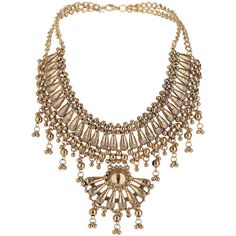 TOPSHOP Fan Section Necklace ($13) ❤ liked on Polyvore featuring jewelry, necklaces, accessories, topshop, colar, gold, topshop jewelry and topshop necklace