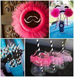 Tutu and Stache Bash with Really Cute Ideas via Kara's Party Ideas | KarasPartyIdeas.com #StacheBash #MustacheParty #BalletParty #TutuParty ...