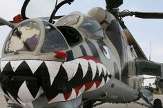 Russian (formerly Soviet) Mi-35 Gunship (nicknamed the 'Crocodile' for its intimidating design and ferocious firepower)