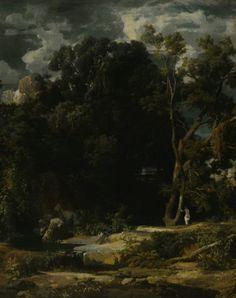 Roman Landscape - detail, oil on canvas (1852)   Arnold Bocklin