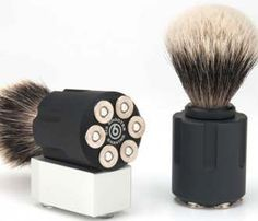 SIX SHOOTER SHAVE BRUSH by Bullets 2 Bandages -- Wannnt this hardcore