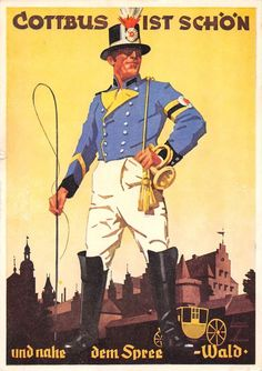 AK Cottbus ist schön Entwurf Ludwig Hohlwein Reklame Werbung Postkarte