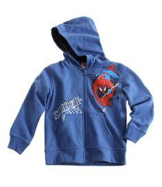 Spiderman Sweat zippe bleu a capuche Enfant Garcon par UnCadeauUnSourire.com