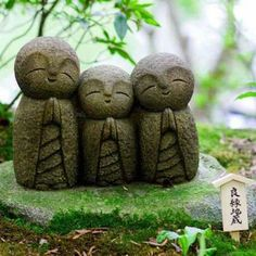 Statues On The Temple Grounds In Japan ~ Namaste
