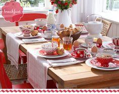 cute breakfast setting