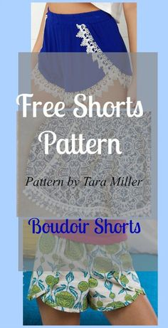 Free Shorts Pattern: Boudoir Shorts - My Handmade Space                                                                                                                                                                                 More