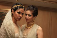 Stylish models that add the oomph to the #Azva gold jewellery! #amfARIndia #Mumbai #BeautifulBrides