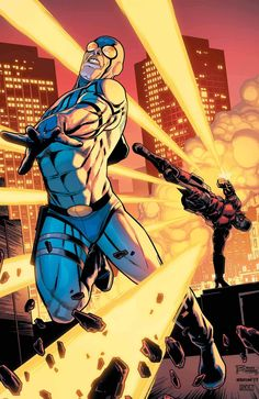 Injustice 2 Batman asks Ted Kord to join his new Justice League Council, but Ted runs afoul of Deadshot before he can answer. Injustice 2, Marvel Vs, Comic Book Covers, Comic Books Art, Comic Art, Book Art, Gi Joe, Star Trek, New Justice League