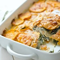 Sweet Potato & Kale Gratin Recipe
