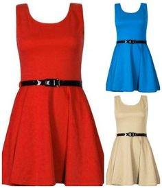 Belted sleeves Skater Dress as low as $8.42 | Closet of Free | Get FREE Samples by Mail | Free Stuff