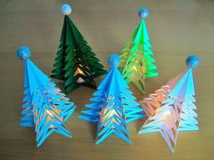 DIY:Weihnachtsbaum aus Kopierpapier/Christmas tree from copy paper - Gifts and Costume Ideas for 2020 , Christmas Celebration 3d Christmas Tree, Christmas Night, Christmas Crafts, Christmas Decorations, Xmas, Christmas Paper, Easy Toddler Crafts, Crafts For Kids, Papier Diy