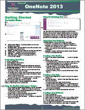 OneNote 2013 Quick Source Guide