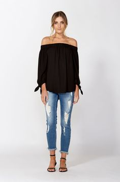 The best of what's new! Shop the Paraty Off Shoulder Top in stores and online now www.decjuba.com.au @Decjuba