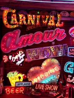 I would love to have a neon sign from God's Own Junkyard for my wedding! especially as they're based just round the corner from my house in Walthamstow! Neon Words, All Of The Lights, Neon Rainbow, Neon Aesthetic, Neon Glow, Neon Lighting, Light Art, Retro, Vintage Signs