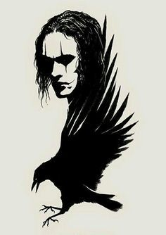 My personal Crow. The Crow, Grey Ink Tattoos, Body Art Tattoos, Crow Tattoos, Phoenix Tattoos, Ear Tattoos, Black And White Drawing, White Art, Corvo Tattoo