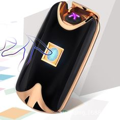 Fingerprint and wind proof rechargeable lighter