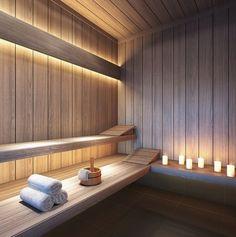 Sauna por Camila Klein Arquitetura e Interiores.