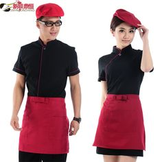 Hotel waitress uniforms overalls summer clothing summer dining restaurant uniforms tooling male-tmall.com day cat
