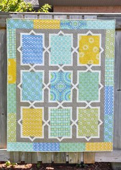 "I'm just popping in quick to show you a quilt that I finished.  It's called Spanish Tiles and can be found in my ""Living Large 2"" book. This is a more modern color pallet th…"