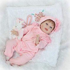Vinyl Lifelike Baby Girl Fuchsia Clothes Doll Kids Birthday Christmas Gift